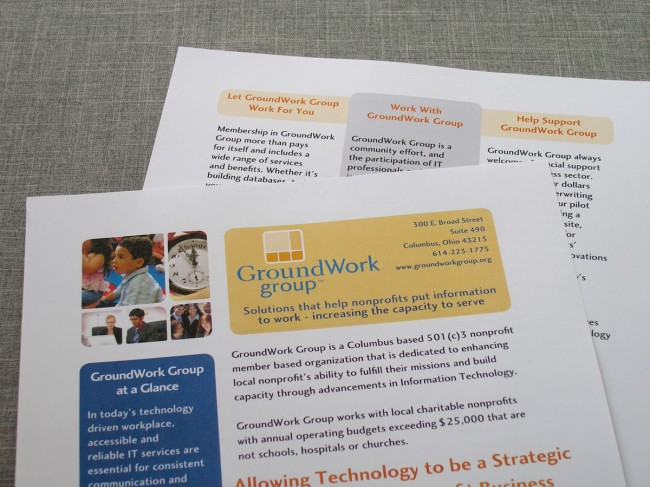GroundWork Group Informational Sheet