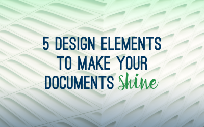 5 design elements to make your documents shine