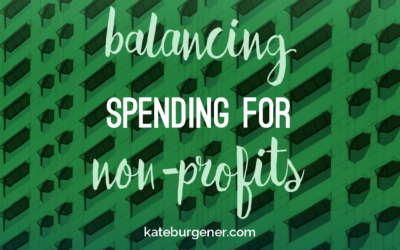 Balancing spending for non-profits